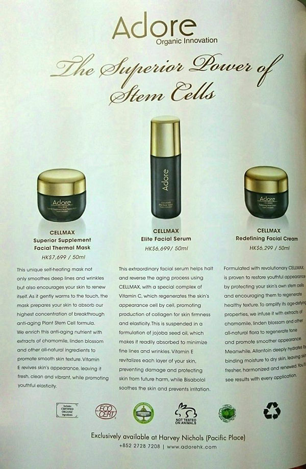 Adore Cosmetics Power of Stem Cells
