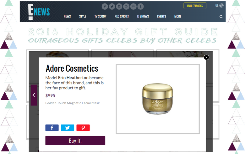Adore Cosmetics in the News December Roundup
