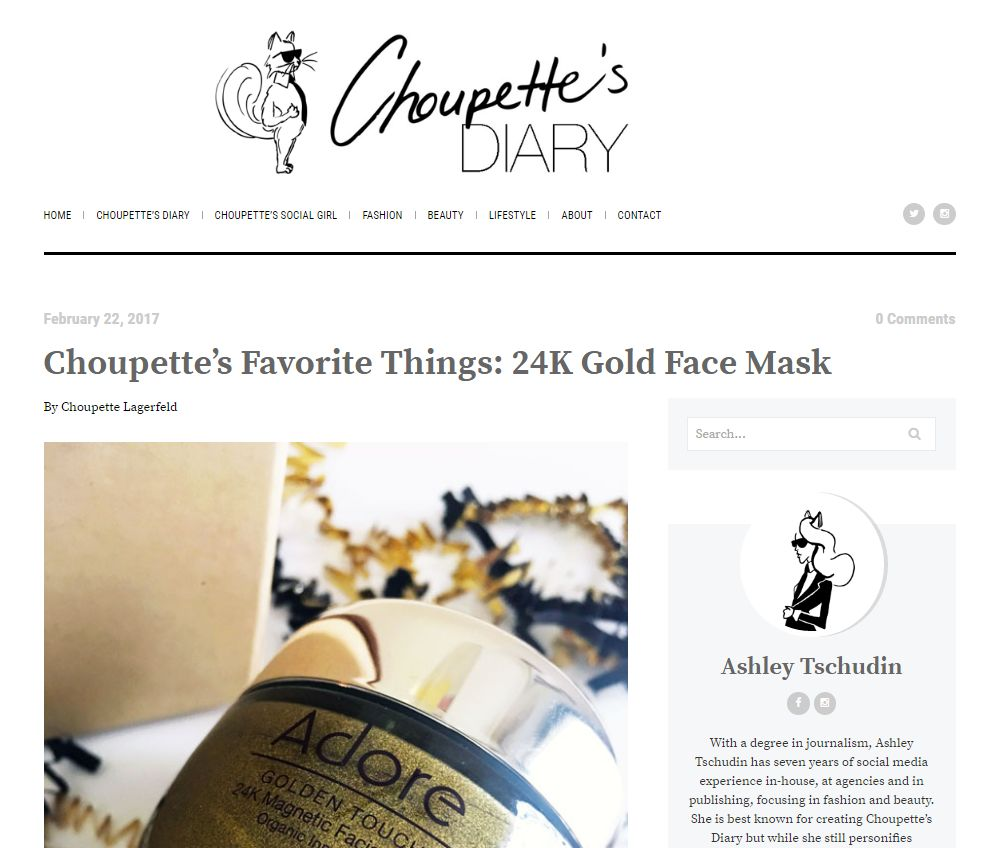 Adore Cosmetics Reviews: Choupette's Diary
