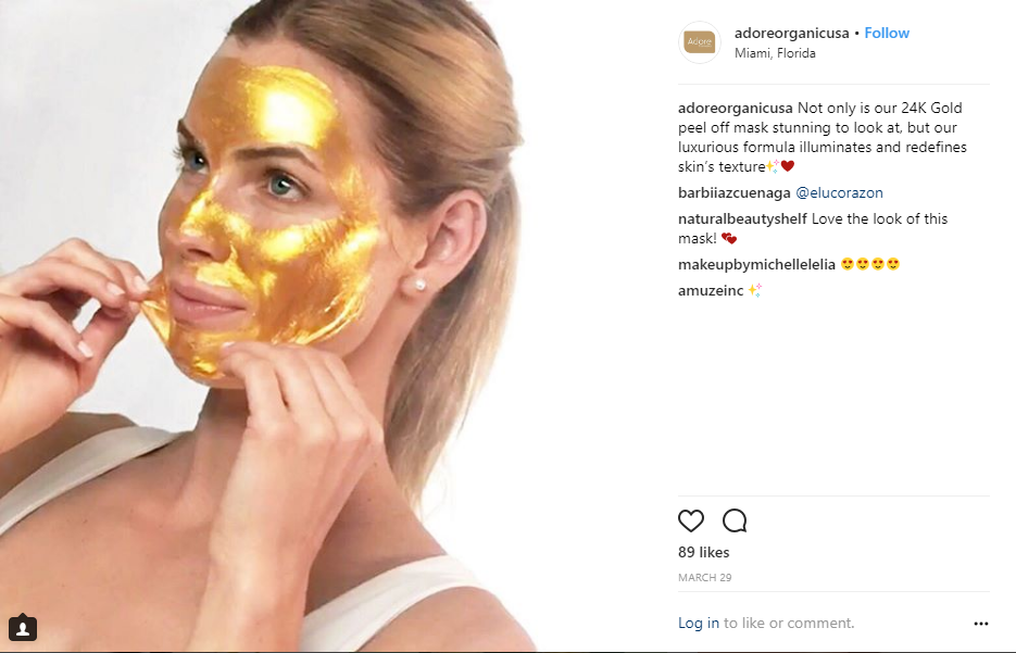 April 2018 Adore Cosmetics News Roundup 24K Gold Mask